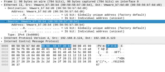 MAC-Adresse des Quellrechners