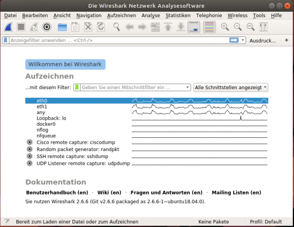 Wireshark unter Linux