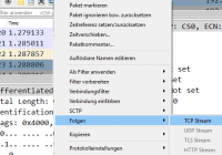 TCP-Stream folgen in Wireshark