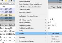 TCP-Stream folgen in Wireshark