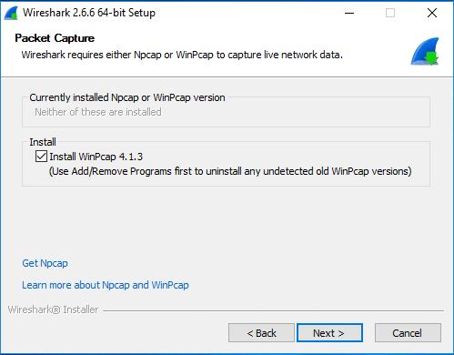 Wireshark bringt WinPcap mit, so dass man es gleich mitinstallieren kann.
