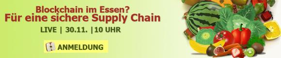 Webinar-Ankündigung: Blockchain für die Supply Chain