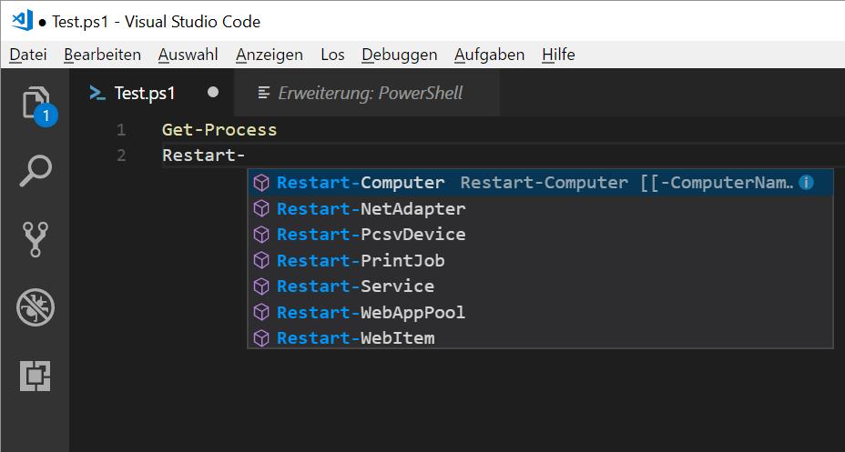 PowerShell-Scripts in VSCode bearbeiten und ausführen