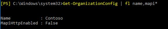 Abfrage der MAPI/HTTP-Konfiguration mit PowerShell