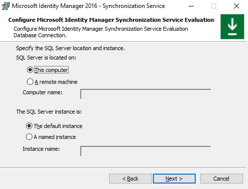 Konfiguration des SQL-Servers für den Synchronization Service