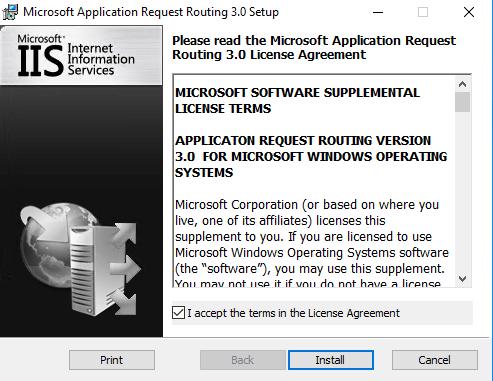 Installation von Application Request Routing für die IIS