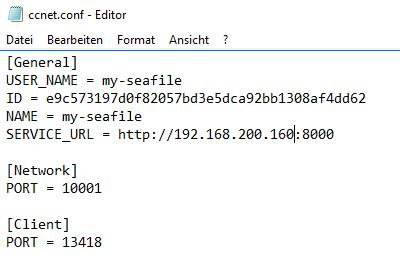 Geänderte IP-Adresse in der ccnet.conf