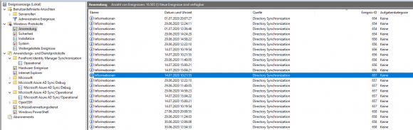 For troubleshooting you should look for entries with ID 656 and 657 in the event log.