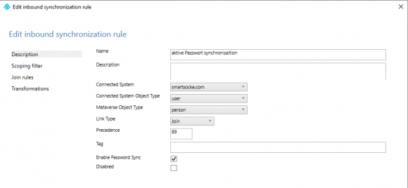 Create rule for those accounts whose password hash should be synchronized to the cloud.