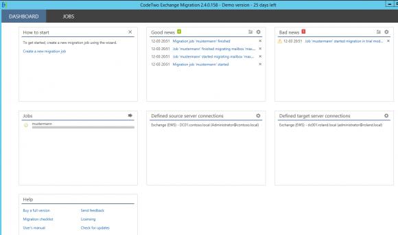 Exchange-Daten migrieren mit der Software von CodeTwo
