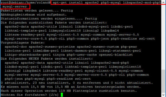 Durch die Installation von Apache Web-Server, PHP und MySQL schafft man die Voraussetzungen für Owncloud.