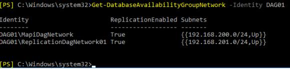 DAG-Netzwerke anzeigen mit Get-DatabaseAvailabilityGroupNetwork