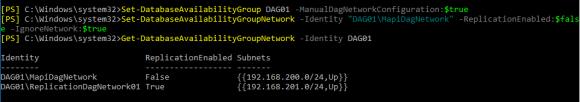 DAG-Replikation mit PowerShell konfigurieren