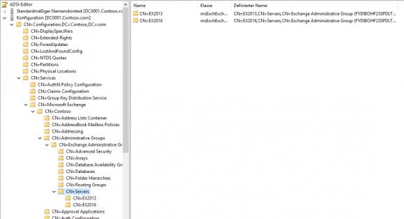 Server mit Hilfe des ADSI-Editors aus dem Active Directory entfernen.