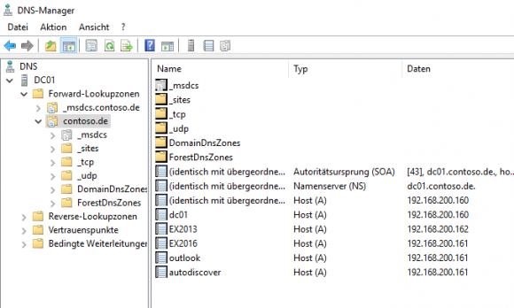 Die DNS-Einträge müssen vom alten auf den neuen Exchange Server umgestellt werden.