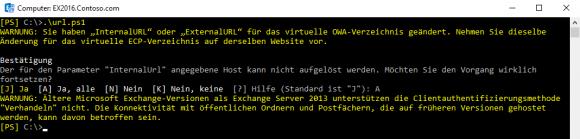 URLs für Exchange Server 2016 anpassen mit PowerShell