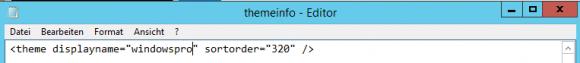 Neuen Namen des Themes in die Datei themeinfo eintragen