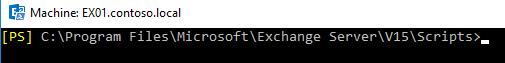 Das Script-Verzeichnis in Exchange 2016