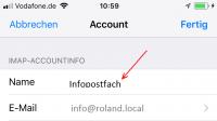 Zugriff auf das Exchange-Freigabepostfach vom iPhone