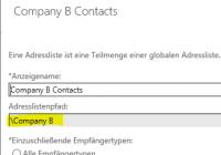 Mandantenspezifische Kontakte in Exchange