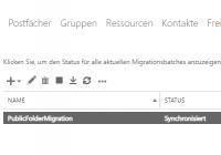 Erfolgreiche Migration der Public Folder nach Exchange Online