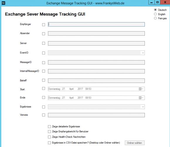 Die kostenlose Message Tracking GUI hilft beim verfolgen von Nachrichten.