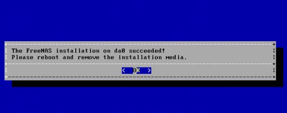 Nach der Installation ist ein Reboot erforderlich.