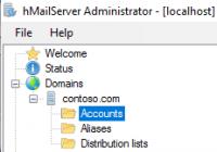 hMailServer konfigurieren