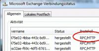 Anzeige des Verbindungsstatus und des verwendeten Protokolls