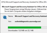 Support- und Wiederherstellungs-Assistent für Office 365 installieren