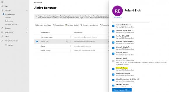 Teams lässt sich für registrierte User in Microsoft 365 freischalten.