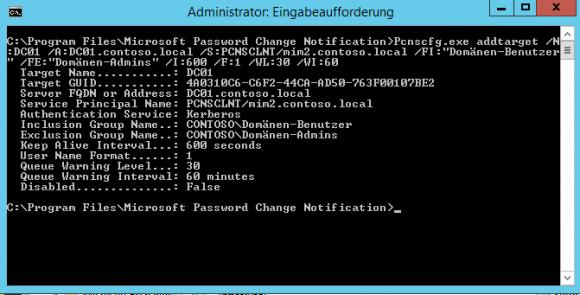 PCNS-Agent mit PCNSCFG.exe konfigurieren