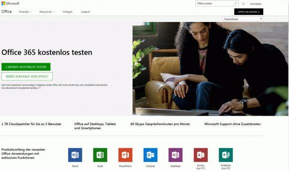 Zum Testen von Office 365 kann man ein 30 Tage gültiges kostenloses Konto anmelden.