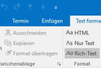 Formatierungsfehler in Outlook