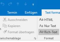 Formatierungsfehler in Outlook