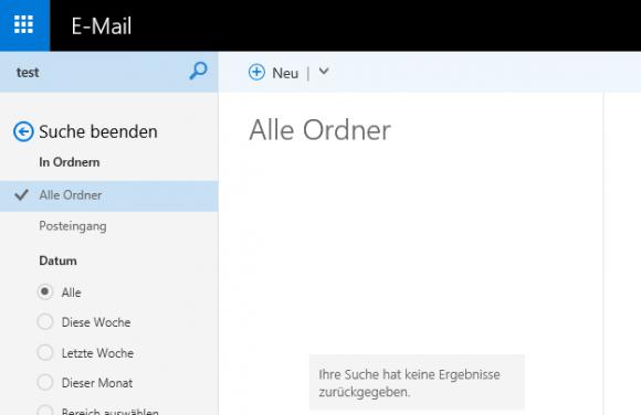 Outlook on the web bietet nun auch eine Suche für Kalender.