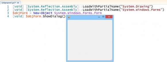 Fenster für GUI in PowerShell erstellen