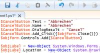 GUI mit PowerShell erstellen