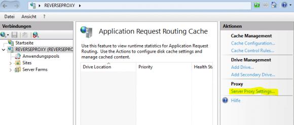 Einstellungen für den Proxy-Server bearbeiten