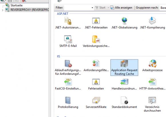 Die Installation von Application Request Routing ergänzt den IIS-Manager um ein entsprechendes Icon.