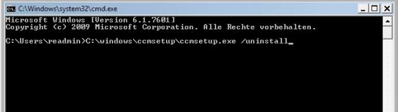 SCCM-Client über die Kommandozeile deinstallieren