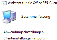 SCCM-Assistent zu Installation von Office 365