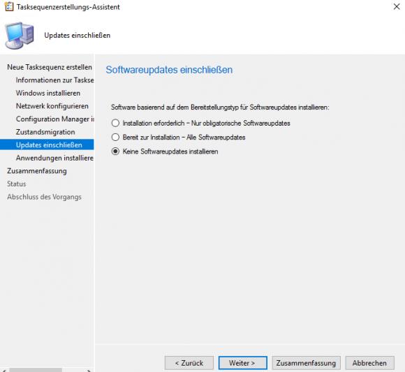 Updates über die Task-Sequenz konfigurieren