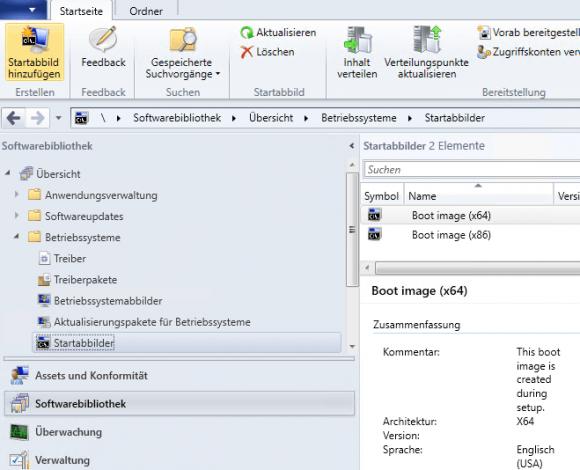 Startabbilder für die OS-Installation hinzufügen