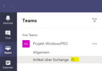 Channels in Microsoft Teams