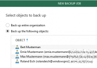 Daten bestimmter User sichern in Veeam Backup for Office 365