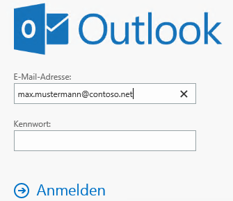 Anmeldung per UPN an Outlook on the web