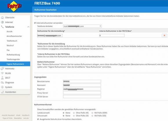 Fritzbox für die Anbindung an CommuniGate Pro konfigurieren
