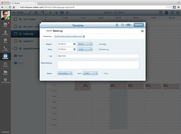 Kalender können im HTML5-Client gemeinsam geführt werden