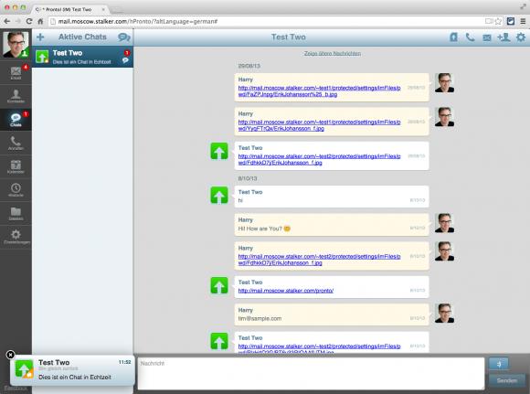 Der CommuniGate Pro HTML5-Client bietet auch ein integriertes Chat-Programm.